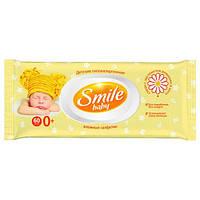 Детские Влажные Салфетки Smile Baby С Экстрактом Ромашки, Алоэ И Витаминным Комплексом С Клапаном 60 Шт (48230