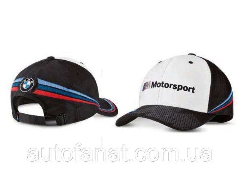 Бейсболка BMW Motorsport Collectors Cap, оригинальная белая/черная (80162461127)