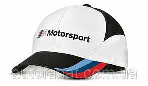 Оригинальная бейсболка BMW Motorsport Fan Cap, Unisex, White/Black (80162461126)