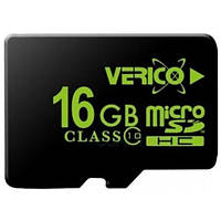 Карта памяти Verico MicroSDHC 16GB Class 10 высокоскоростная карта для смартфонов планшетов видеоригестраторов
