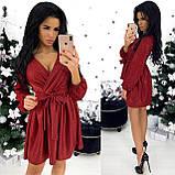 Сукня жіноча вечірня чорний, пляшка, бордо, пудра, фото 2