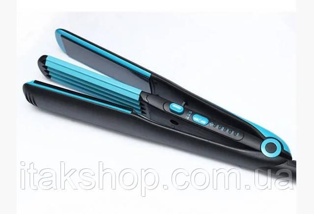 Стайлер для волос Mozer MZ 7016 2 в 1 утюжок (выпрямитель), гофре