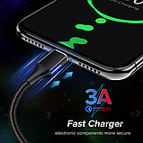 GETIHU Магнитный кабель lightning usb тип №2 быстрая зарядка 3А iPhone Цвет синий, фото 5