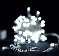 Гирлянда 100LED (ЧП) 9м Белый (RD-7128), Новогодняя бахрама, Светодиодная гирлянда, Уличная гирлянда, фото 1