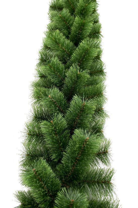 Искусственный новогодний декор, еловая гирлянда Пушистая зеленая 250 см