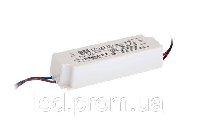 Блок питания Mean Well 16.8W DC48V IP67 (LPC-20-350)