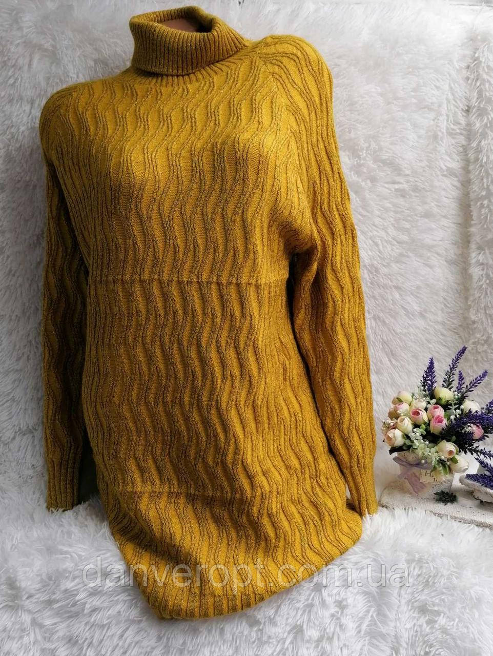 Туника женская модная стильная вязка размер универсальный 48-50 купить оптом со склада 7км Одесса