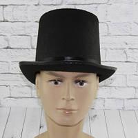 Шляпа Цилиндр фетр высокий (черный), фото 1