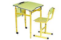 Комплект ученический  1- местный с регулировкой угла наклона столешницы №3-5 (Стол 70342+1стул)
