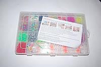 Набор резиночек для плетения Rainbow Loom 2100 шт. со станком (органайзер)