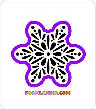 Трафарет + формочка-вырубка для пряников Снежинка №21