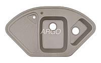 Угловая гранитная мойка для кухни с двумя чашами Argo Trapezio Terra 1060*575*190