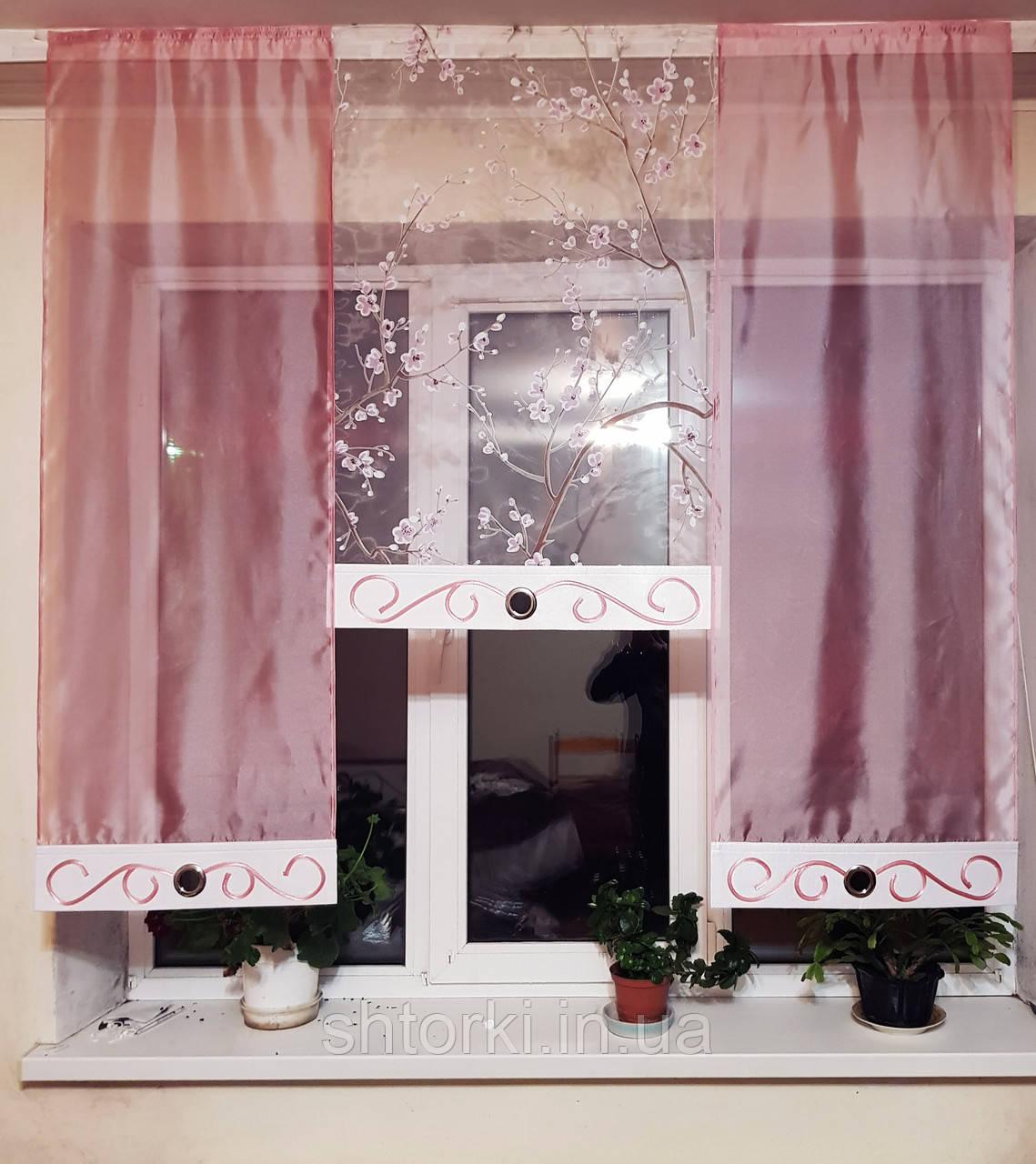 Комплект панелек Сакура сиренево розовая 3шт