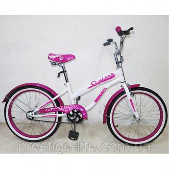 "Велосипед Tilly Cruiser 20"" T-22033 White Crimson"