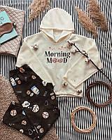 "Женская пижама на флисе ""Morning Mood or Milk"""