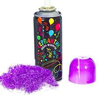 Топ! Праздничный Фиолетовый Серпантин 250 мл, Спрей в баллончике, фото 1