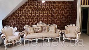 "Комплект мягкой мебели в стиле барокко ""Белла"", диван и два кресла 3+1+1, фото 2"