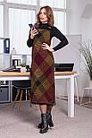 Теплое платье-сарафан в клетку «Хлоя», 44-48, фото 4