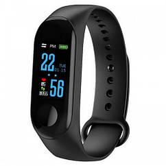 Фитнес браслет Mi Band M3 Black цветной экран, спортивные фитнес часы, умные часы, шагомер + подарок