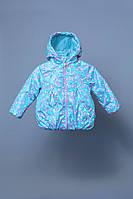 Куртка для девочки  ТМ Модный Карапуз демисезонная голубой 03-00777  / 92, 98