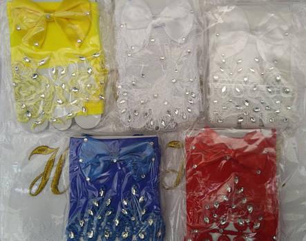 Детские изумительные кружевные перчатки под бальное вечернее платье на утренник., фото 2