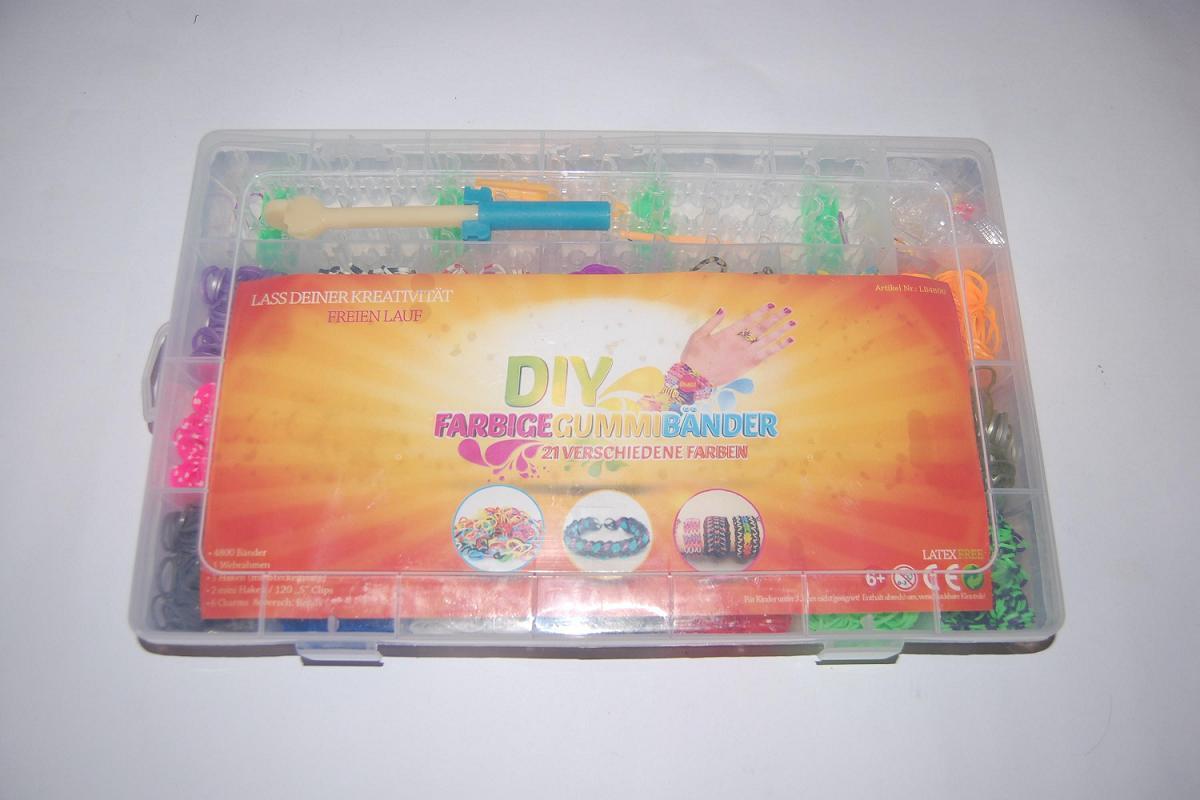 """Набор резиночек для плетения Rainbow Loom 4800 шт. со станком (органайзер) - Интернет-магазин """"Бонус+"""" в Одессе"""