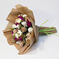 Букет з цукерок Троянди 21 матовою плівці, фото 1