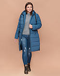 Braggart Youth 25045 | Зимняя куртка большого размера темно-голубая, фото 2