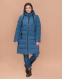 Braggart Youth 25045 | Зимняя куртка большого размера темно-голубая, фото 3