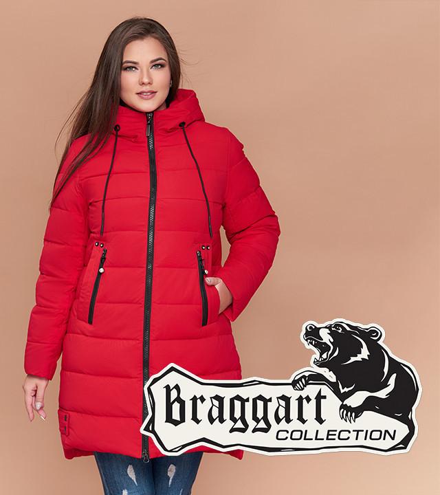 Braggart Youth 25225 | Куртка женская зимняя большого размера красная