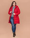 Braggart Youth 25225 | Куртка женская зимняя большого размера красная, фото 2