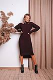 Женское теплое  вязаное платье под горло удлиненное пряжа 50% шерсть 50% акрил Estilo Diani размер: 42-46, фото 4