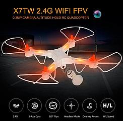 Квадрокоптер c WiFi камерой Drone Jie-Star Sky Cruiser X7TW, дрон с камерой + подарок