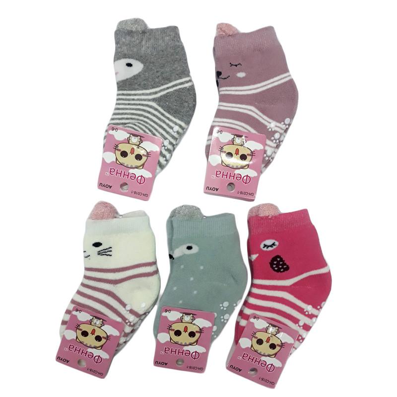 Теплые носочки для новорожденных девочек, 6-12 мес.