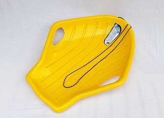"""Санки-ледянка / Пластикові санки / Ракушка мала, одномісна """"Prosperplast"""", жовта"""