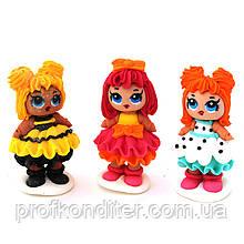 Цукрова фігурка Лялька LOL , 3 шт в наборі