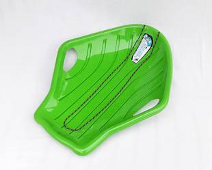 """Санки-ледянка / Пластикові санки / Ракушка мала, одномісна """"Prosperplast"""", зелена"""