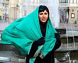 Легендарный кашемировый шарф Chadrin зеленый/бежевый, фото 2