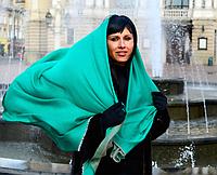 Легендарный кашемировый шарф Chadrin зеленый/бежевый