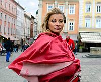 Легендарный кашемировый шарф Chadrin красный/бежевый