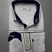 Детская белая приталенная рубашка BENDU (размеры 34,35)