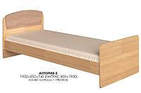 Кровать односпальная Астория-2 сонома + трюфель Эверест (85х193х74 см)