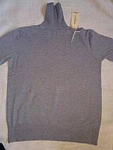 Серая водолазка женская базовая большого размера с горлом размер единый до 52го, фото 3