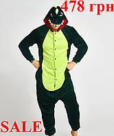 ОРИГИНАЛ Пижама кигуруми - Крокодил оптом опт дропшиппинг кигнуруми кенгуру костюм