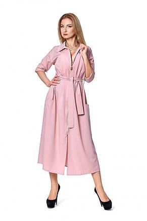 Модное офисное длинное платье с воротником 42-48., фото 2