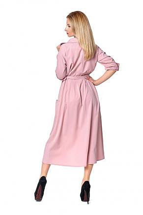 Модное офисное длинное платье с воротником 42-48., фото 3