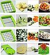 Овощерезка Nicer Dicer Plus Найсер Дайсер шинковка тёрка измельчитель, Мультислайсер для овощей и фруктов, фото 5