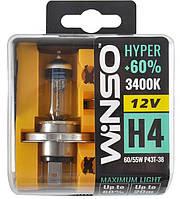"""Автомобильные галогенные лампы """"Winso"""" H4 Hyper +60% 3400К DuoBox"""