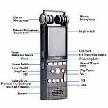 Профессиональный цифровой диктофон Savetek GS-R06, стерео, 8 Гб + поддержка SD карт, фото 5