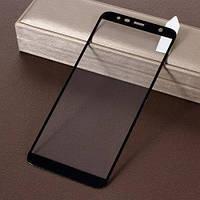 Защитное стекло для Samsung Galaxy J6+J610 Plus Самсунг клеится по всей поверхности черный 6D